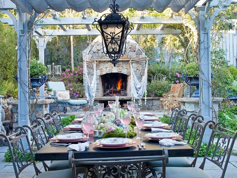 moderno jardin chimene diseno estilo ideas