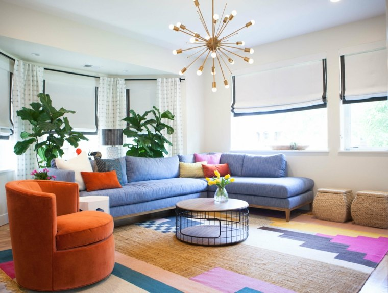 muebles casa colorida mesita redonda ideas