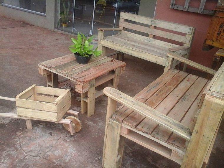 Terrazas con palets m s ideas para la decoraci n de for Muebles para terraza en madera