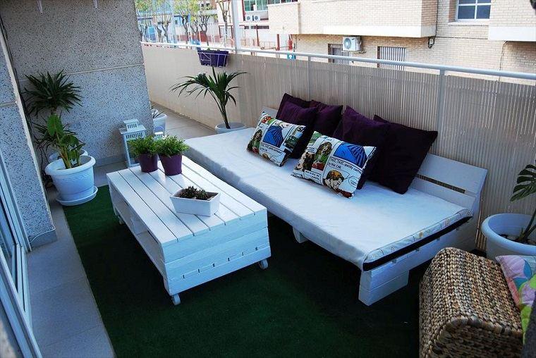 decoración terrazas palets
