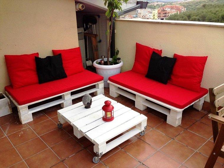 Terrazas con palets  más ideas para la decoración de primavera