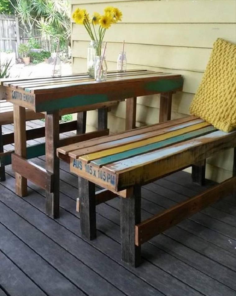 Terrazas con palets - más ideas para la decoración de primavera -