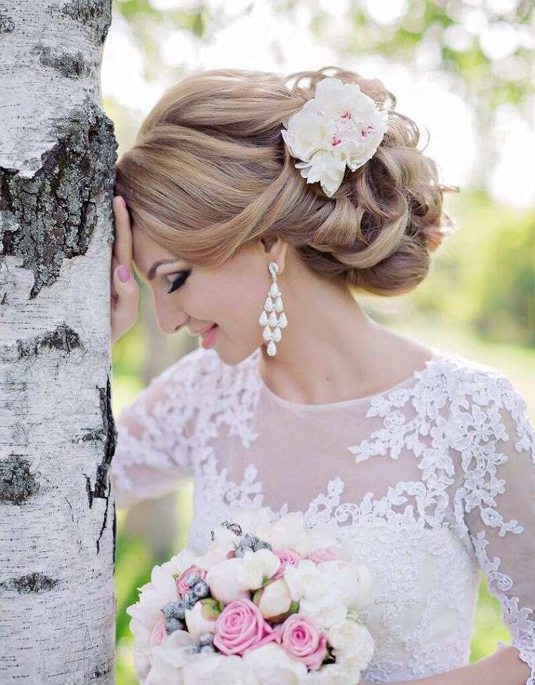 novia boda peinado opciones estilo moderno ideas