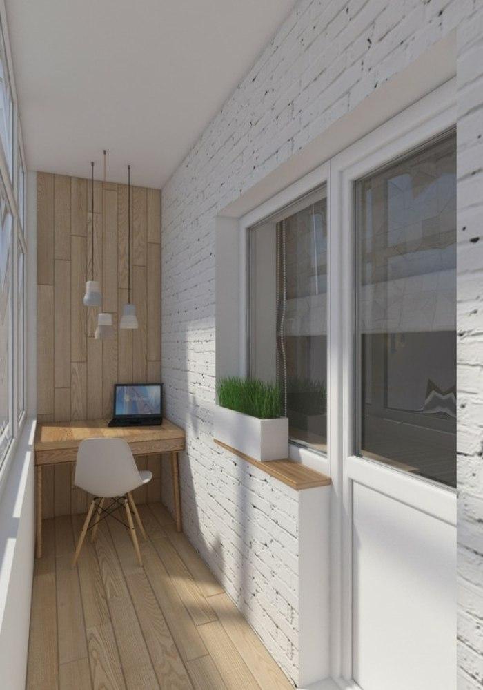 oficina materiales blanco maderas lamparas