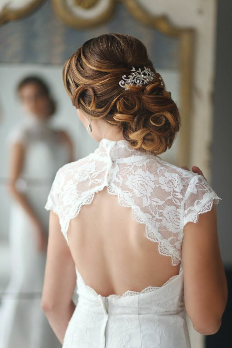 opciones recoger pelo dia boda peinado ideas