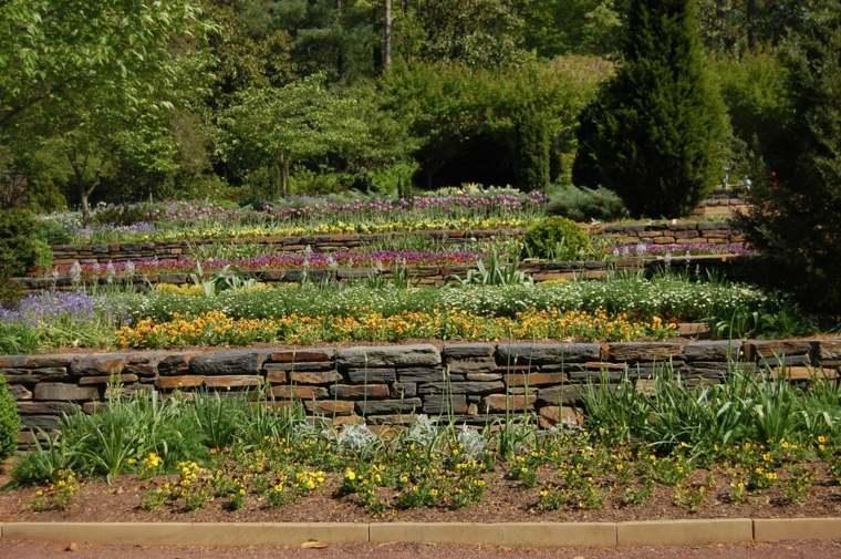 originales terrazas jardines flores