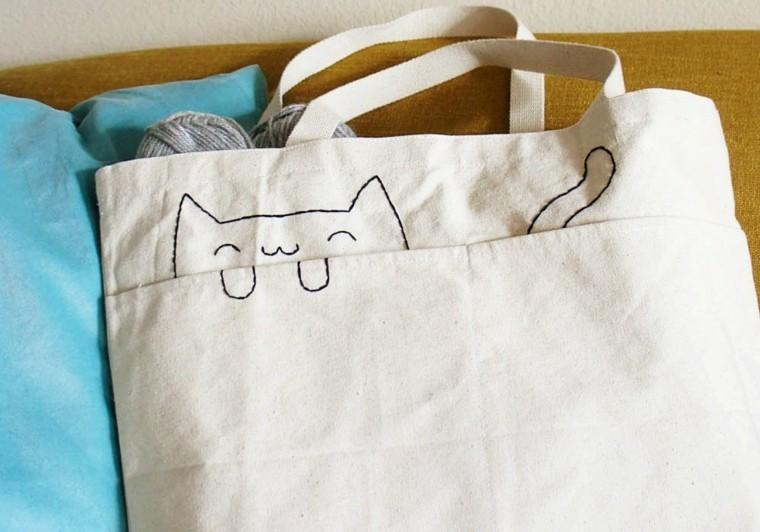 bolso gato estilo kawaii
