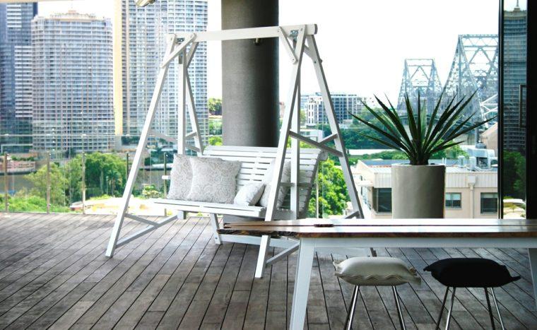 Columpios terraza garden swings hammocks amazons blanco - Columpios de terraza ...