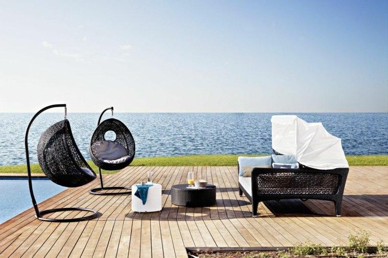 muebles mimbre terraza