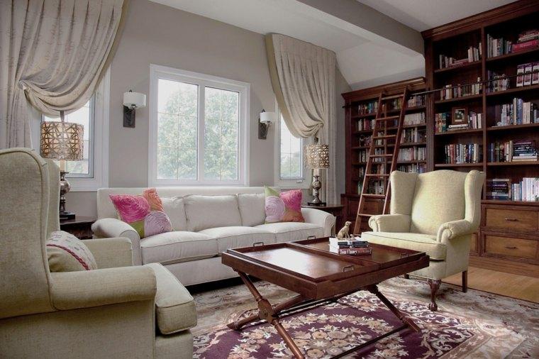 Cortinas para ventanas abatibles dise os funcionales y - Diseno de cortinas para salon ...