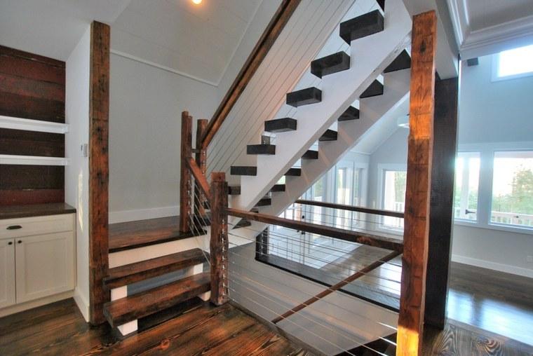 original interior moderno escaleras madera