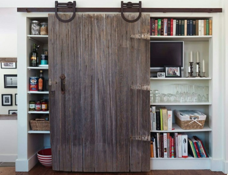 Puertas correderas de madera de estilo granero 42 ideas for Farm door ideas
