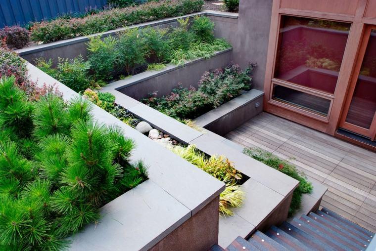 original patio moderno varias gradas