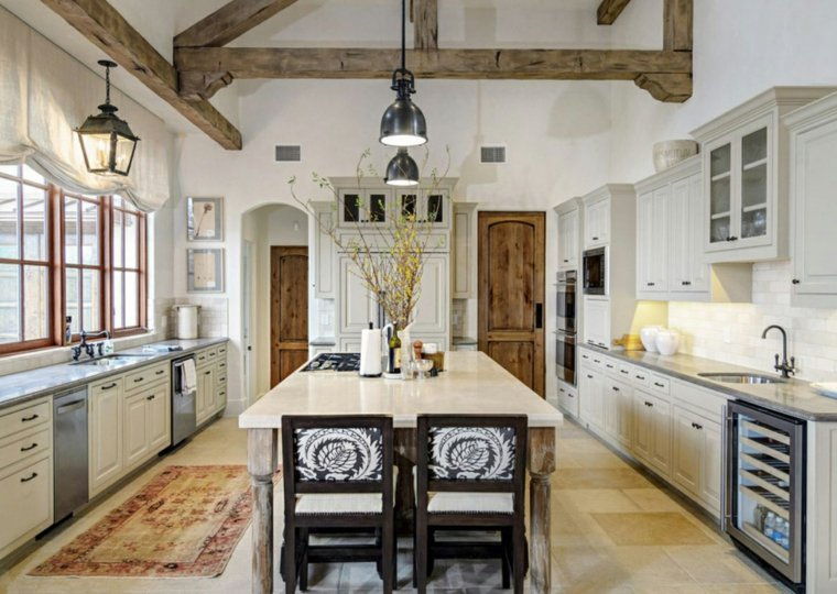 original cocina beige madera