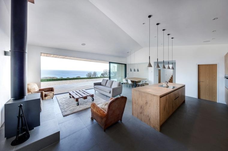 Casa de vacaciones de lujo dise ada por ar design studio for Sala de estar larga