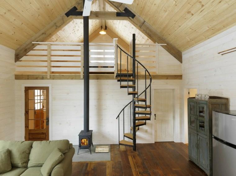 original diseno escaleras rusticas de caracol