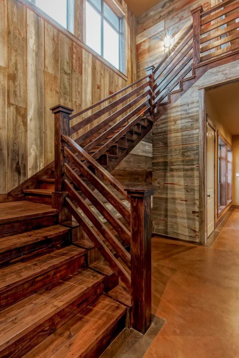 Escaleras r sticas de piedra y madera 34 dise os for Disenos para escaleras interiores