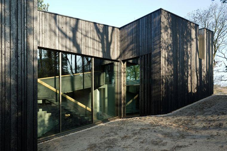 fachada madera gris