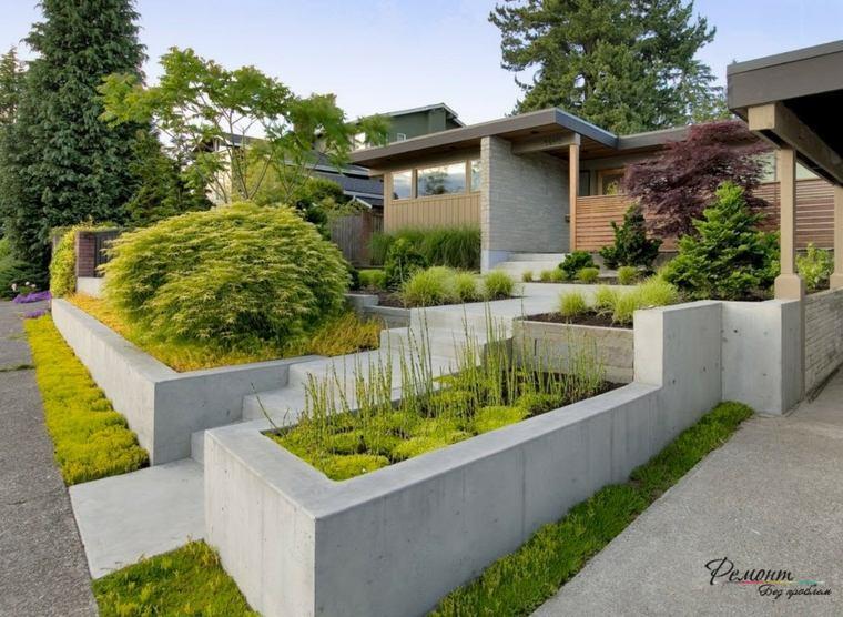original diseño patio aterrazado