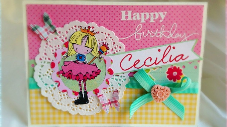 tarjeta cumpleaños niña pequeña