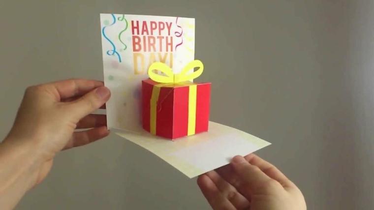 tarjeta con regalo 3d