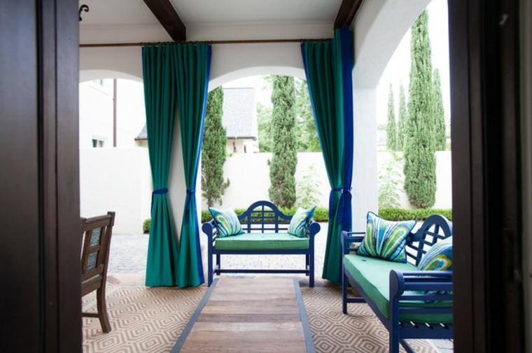 cortinas para terrazas azules