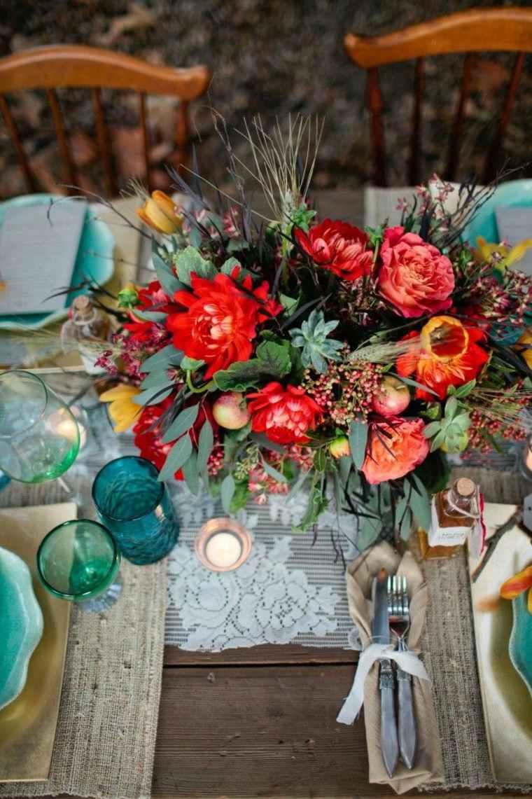 diseño original mesa boda