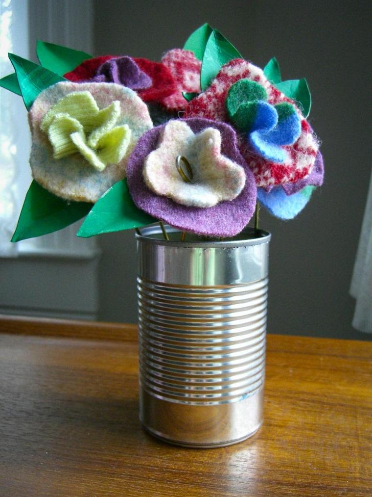 lata flores fieltro