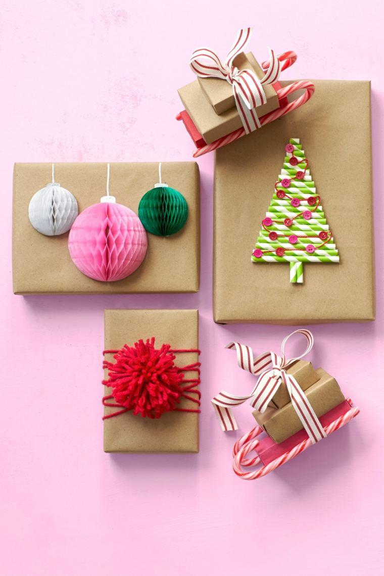 envolver regalos papel reciclado