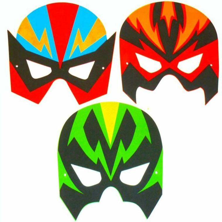 originales mascaras luchadores goma eva
