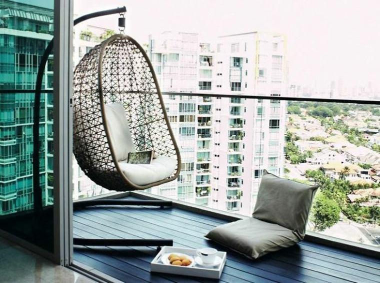 originales muebles balcon minimalista