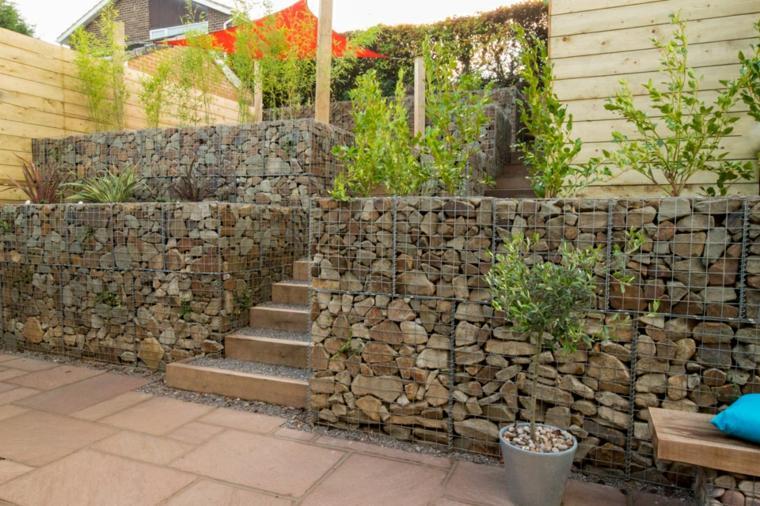 originales diseños terraaas jardin