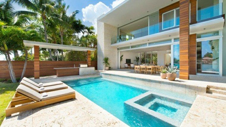 palmeras estilos casas caribenas maderas verdes