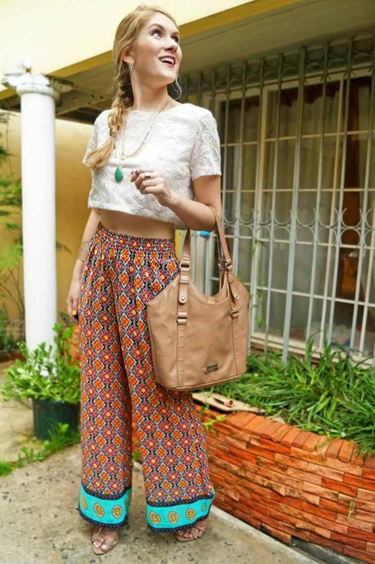 pantalon ancho estilo especial moda colores