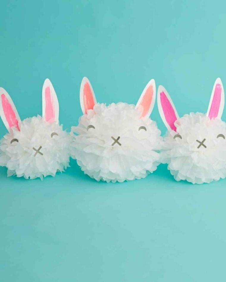 papel conejos pascua ideas especiales paredes