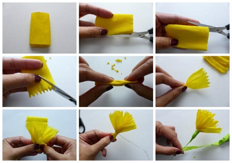 papel para hacer flores decorar