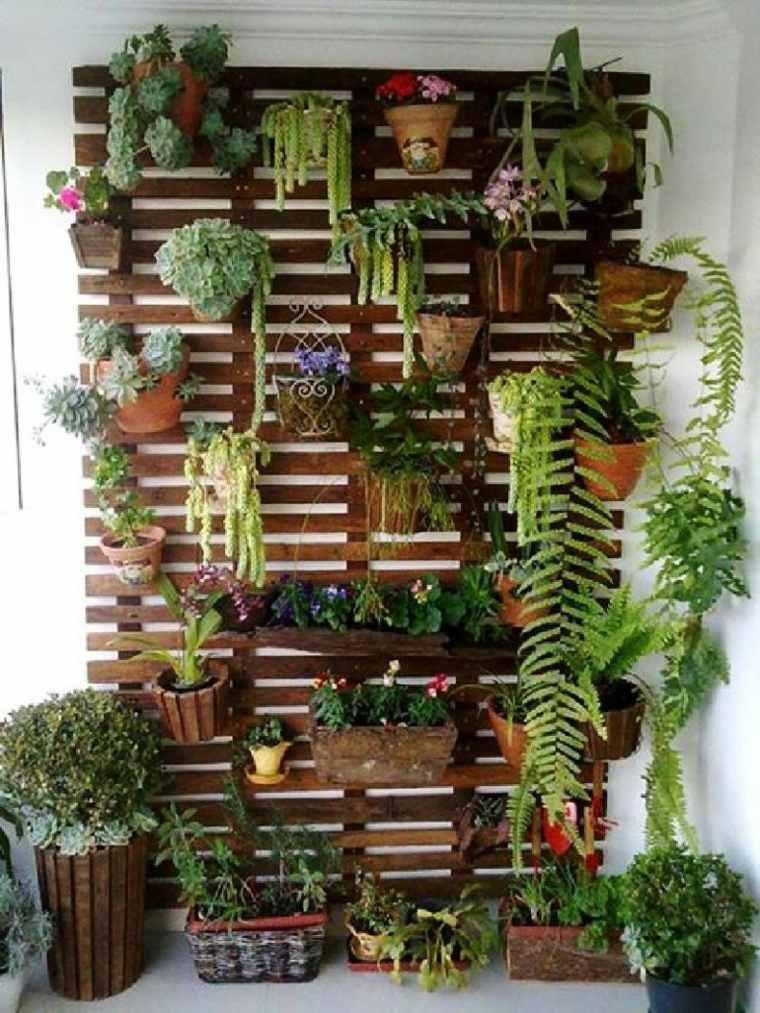 pared terraza decorada plantas