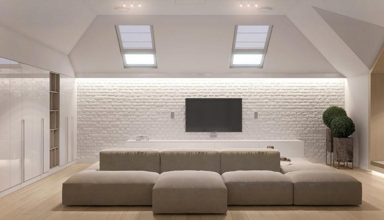 paredes acentos luces ladrillos conceptos plantas