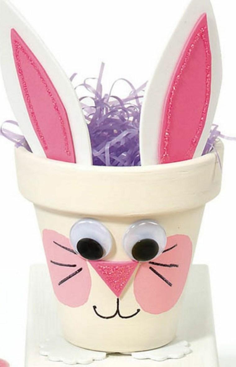 pascuas maceta decorada conejo soluciones