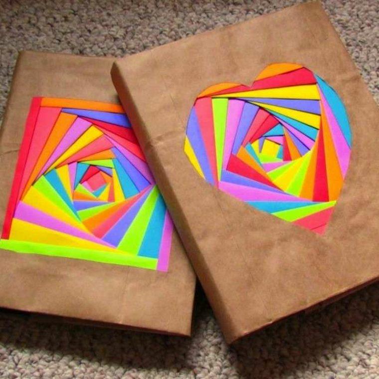 decorar forros cuadernos goma