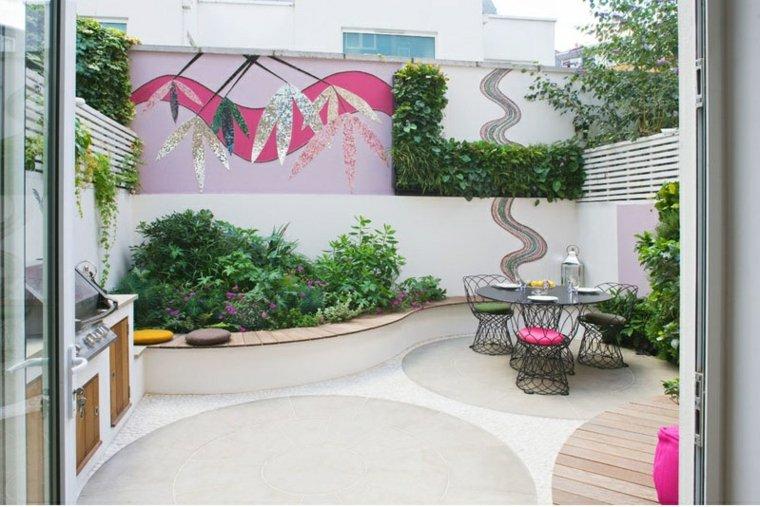 patio diseño especial decoraciones estilo flores