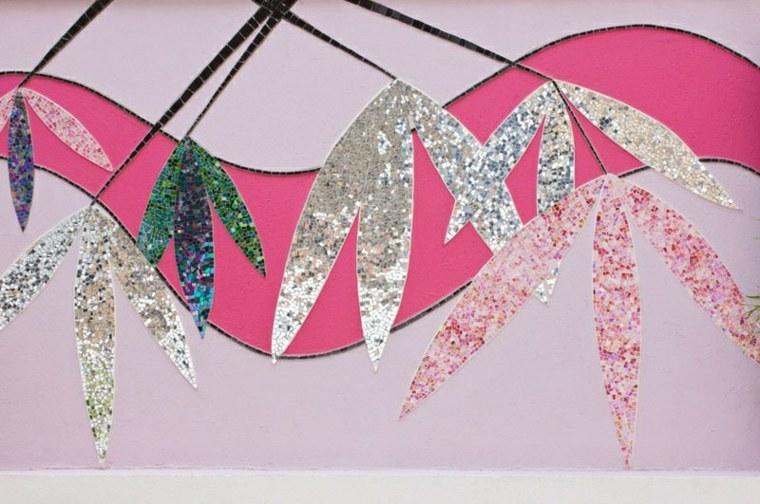 patio diseño inspiracion floral paredes