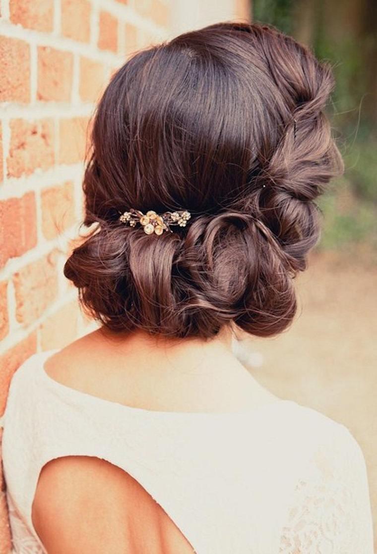 peinado bello novia estilo boda ideas
