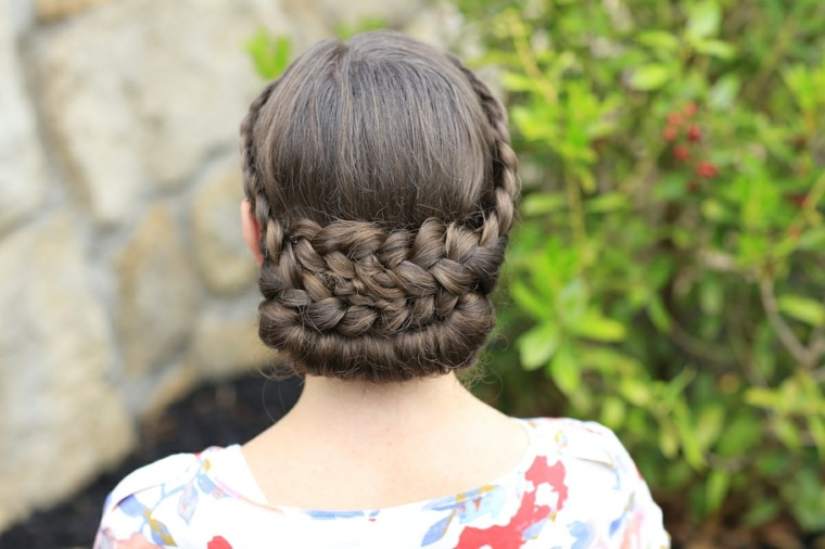 peinado con trenzas chicas