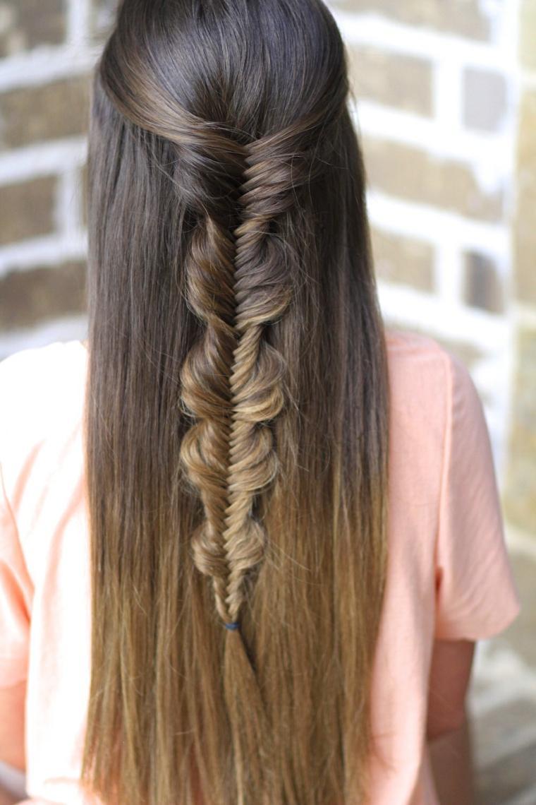 peinado trencitas chicas