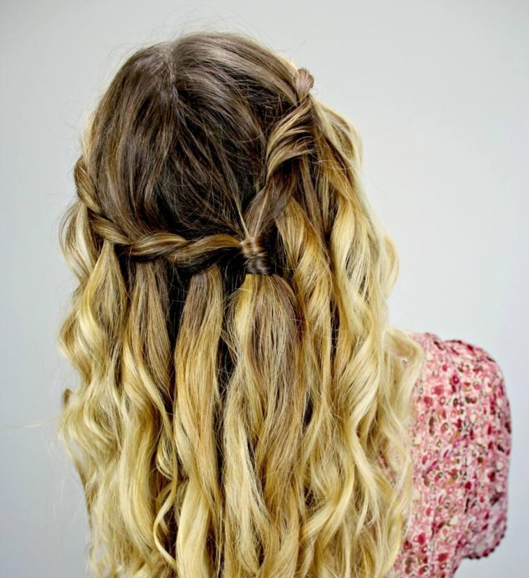peinado trenza elegante