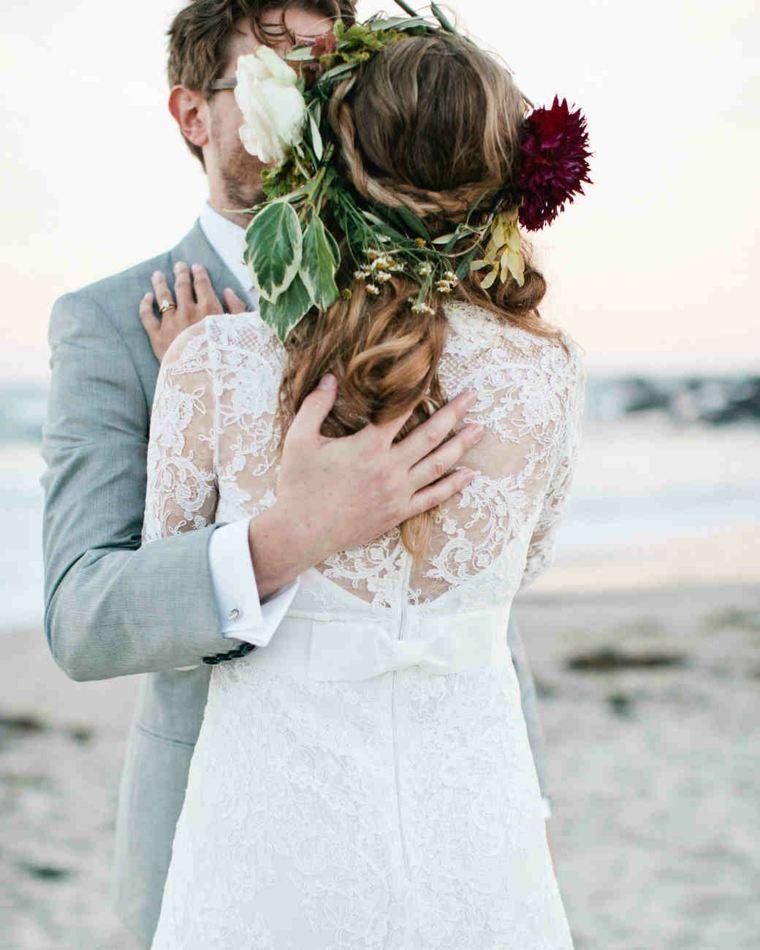 peinados boda corona flores opciones ideas