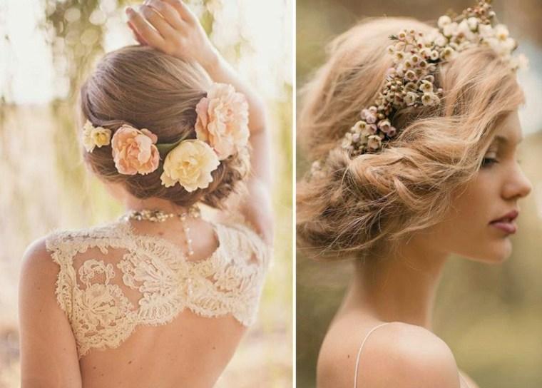 peinados boda elegante flores boda aire libre ideas