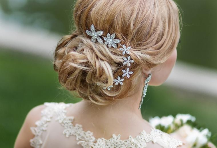 peinados boda joyas flores mono ideas