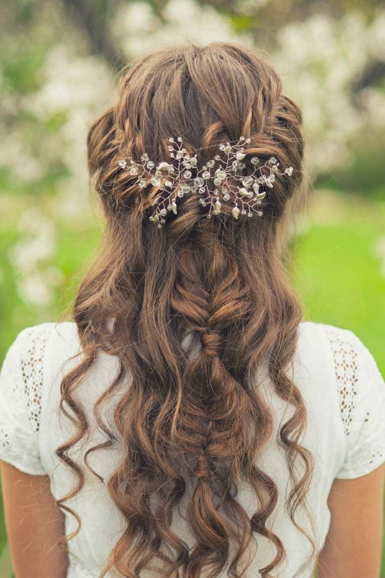 peinados boda ligero rizos trenza ideas